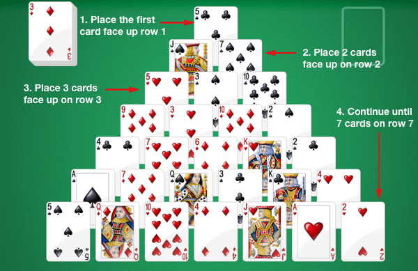 Play Free Pyramid Solitaire Online No Download Necessary