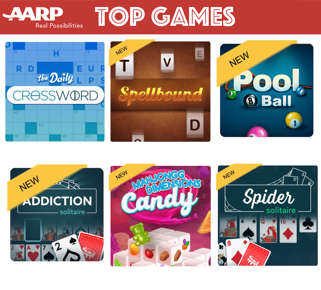 aarp free games online without download