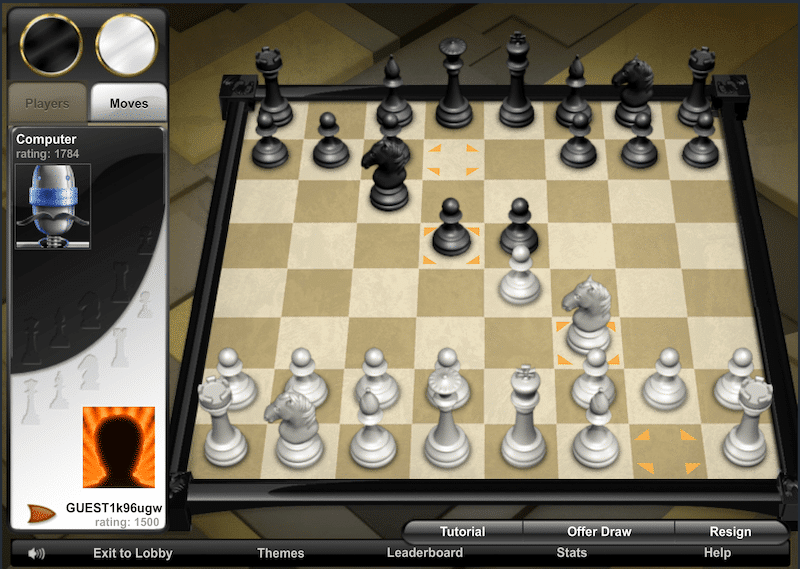 aol games chess