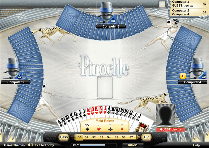 aol games pinochle