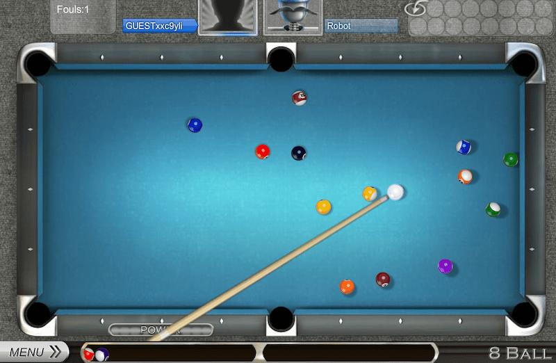 Lucky break 8 ball